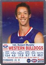 2009 SILVER ROBERT MURPHY WESTERN BULLDOGS NEW teamcoach  DID YOU KNOW CARD
