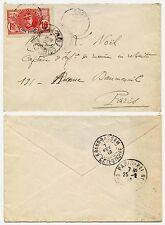 FRENCH IVORY COAST SOUBRE 10c to PARIS 1912