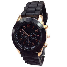 Geneva Silicone Band Quartz Jelly Bracelet Wrist Watches For Women/Ladies/Girls