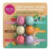 EOS 100% Natural Certified Organic Shea Lip Balm 6 Count Variety Pack