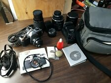 PENTAX ASAHI K1000 35mm SLR Film Camera w/ 3 Lens+Strap+Manual+Flash more