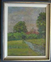 ::Wilhelm Ferdinand Gohlisch (1889-1954) orig. kleines Gemälde Landschaftsbild