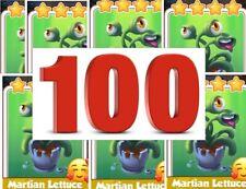 COIN MASTER MARTIAN LETTUCE, Lot 100 Cards.  Read Description