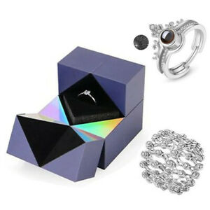 Creative Ring,Bracelet And Puzzle Jewelry Box Cube Rotating Valentine's Day