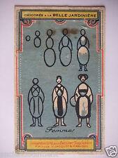 CHROMOS CHICORÉE LA BELLE JARDINIÈRE PASTILLES CHAUSSON FEMME C. BÉRIOT A LILLE.