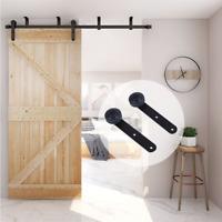 4-20FT Sliding Barn Door Hardware Kit Ceiling Mount for Single/ Double Door