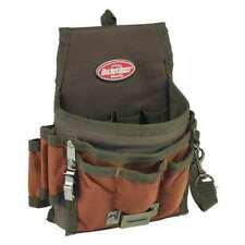 "Tool Pouch,Brown/Green,9 Pockets,6-1/2""W BUCKET BOSS 54140"
