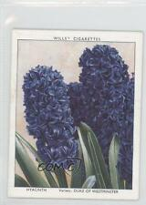 1938 Wills Garden Flowers New Varieties Tobacco Base #18 Hyacinth Card 1s8