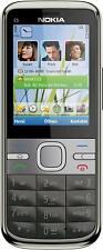 "Nokia C Series C5-00 5.0MP 2.2"" Bluetooth FM Radio (Unlocked) Cell Phone -Gray"