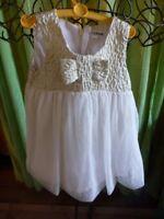 bébé fillette18-24mois   robe KIMBALO SOIRée,,, féte ,,, baptéme  blanc