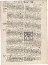 1575 Cosmografia Universale, pag. 1259, Rhetiens ou Grifons, xilografia