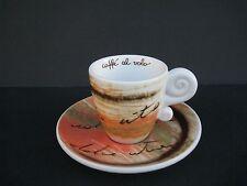 Thun Caffe' Al Volo Expresso Cup And Saucer