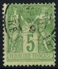 FRANCE 1898-1900 SG#283, 5 C VERT-JAUNE TYPE II utilisé #D50813