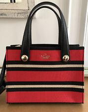 KATE SPADE Stewart Street Little Joy Red/Black Stripe Satchel Handbag BRAND NEW