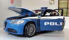 Alfa Romeo 2017 Giulia Veloce Police Polizia 1:24 Scale Diecast Model Car Burago