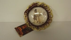 Bethany Lowe Thanksgiving Image Dome Ornament LC4572 Pilgrim Girl and Boy New