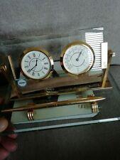 Vintage Seiko Clock And Thermometer Desk Set