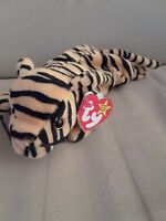 1995 Ty Beanie Baby Stripes Tiger PVC Pellets Factor Errors #4065 VINTAGE