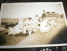 Old photograph people at Port Erin Isle of Man c1933