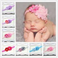 Pretty Baby Cute Little Babies Girls Flower Hair Band Elastic Headbands For Gift