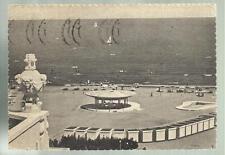 vecchia cartolina di rimini spiaggia grand hotel spedita nel 1955