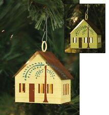 Lited Punched Tin WILLOW HOUSE Christmas Tree Ornament