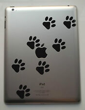 10 x Paw Decals - Vinyl Stickers for iPad iPad Mini Tablet Air Macbook DS