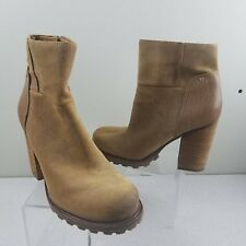88030661a4f0f4 Sam Edelman 9 M Franklin Camel Leather Suede Waterproof Tan Whiskey Ankle  Boots