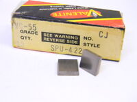 NEW SURPLUS 10PCS. VALENITE SPU 422  GRADE: VC55  CARBIDE INSERTS