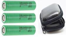 3 x Samsung Li-ion Battery INR18650-25R -2500mah 3,7V + Protection Bag E