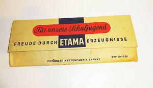 DDR Etiketten Set Etama Schulanfänger Heftetiketten 1950er Schulbedarf !