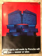 1993 Porsche 944 Brake Pads Parts Showroom Sales Poster RARE!! Awesome L@@K