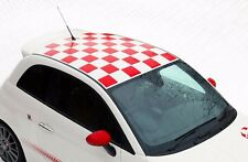 Checkered Roof Squares decals stickers fits any 2009-2012 Fiat 500 Abarth Punto