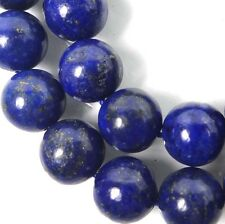 10mm natural Indigo Lapis Lazuli Round Beads 8""