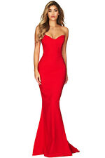 New red Ball Gown Prom Party Formal Celeb Long Maxi Dress SIZE 10-12-14