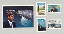Gambia #763-767 Kennedy, JFK, Space 4v & 1v S/S Imperf Proofs