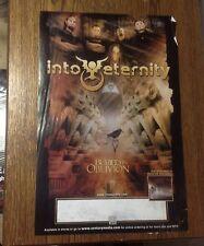 Cd lp Into Eternity Promo Poster 17x11apx century media vintage music Lp Rare