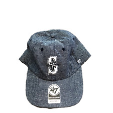 NWT New Seattle Mariners '47 Brand Clean Up Chambray Logo Adjustable Hat