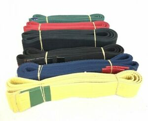 Lot of 6 USED Adult Martial Arts Karate Belts Assorted Colors & Sizes G08-22