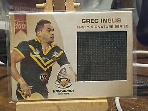 Greg Inglis Jersey Signature Kangaroos Game Used Patch Card RARE!