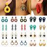 Fashion Women Boho Acrylic Hollow Geometric Big Circle Drop Dangle Earrings