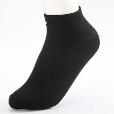 5Pairs New Mens Womens  Soft Ankle Cut Sport Socks Lot White Grey Black Unisex