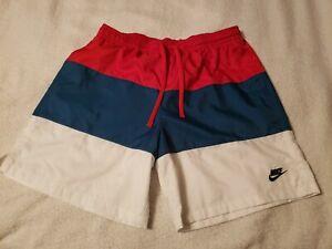Nike Men's swim trunks XL red WHITE blue USA ***rAre*** NEW!!!