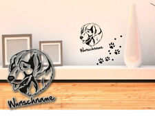 Wall Tattoo Sarplaninac Yugoslav Shepherd Dog h374 Desire Name Paw
