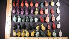 Pendant Tumbled Stone Crystal Cloth Wrapped LOT 50 Pcs Handmade Healing Reiki