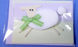 Hallmark Gift Tag Brand New Sealed Embellished Lamb