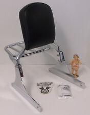 Harley Davidson Softail Wide Tire Sideplates, Sissy Bar, Backrest Pad, Rack EUC
