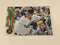 2020 Topps Walmart Holiday Baseball HW155 - Christian Yelich - Milwaukee Brewers