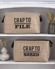 Humorous Office File Organizers - Set of 2 File and Shred Bins
