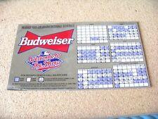 Revised 1995 Colorado Rockies Baseball Schedule Budweiser magnet season team